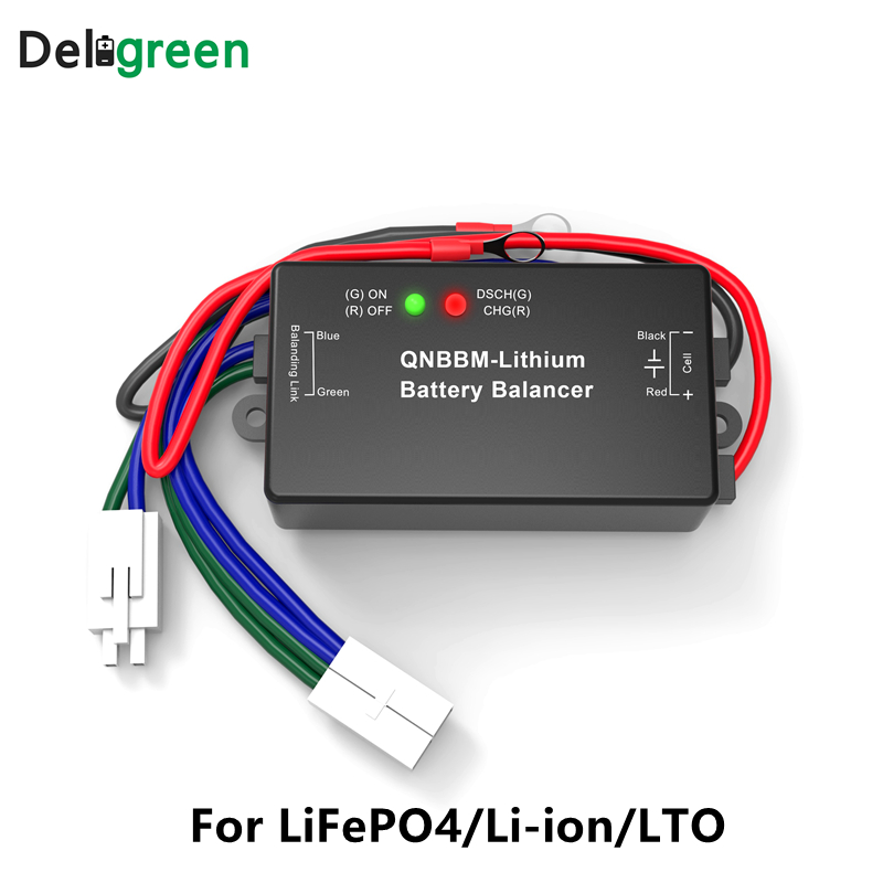 QNBBM 1S Active Battery Balancer For Li-ion Li-po Lifepo4 For Solar System EV RV With LED Indicator