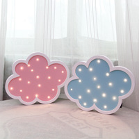 Manufacturers Direct Selling INS Creative GIRL'S Heart Cloud Flower LED Modeling Lamp Room Wall Lamp Wall Decorations And Orname