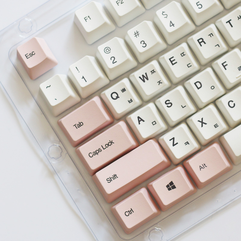 PBT Sublimation Korean No Backlit Keycaps 104 Keys Cherry Mx Switches Key Caps With Keycaps Puller For Mechanical Keyboard