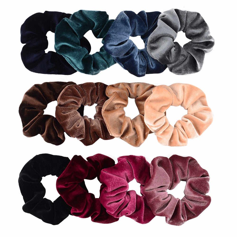 40 kolorów Korea aksamitne włosy Scrunchie elastyczne gumki do włosów kobiety dziewczyny nakrycia głowy gumka do włosów kucyk Holder akcesoria do włosów