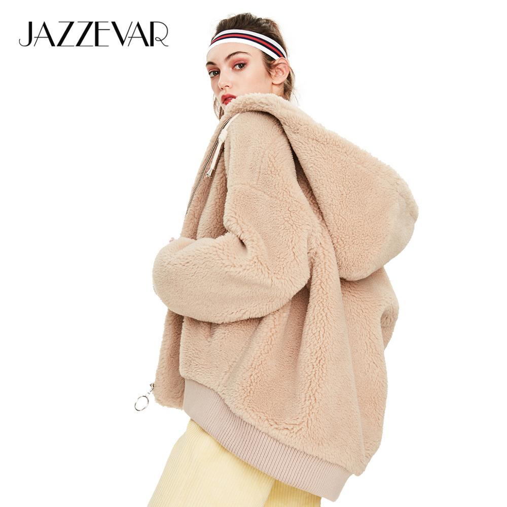 JAZZEVAR 2019 Winter New Arrival Fur Coat Women Outerwear Quality Loose Clothing Teddy Bear Jacket Winter Coat Women K9051