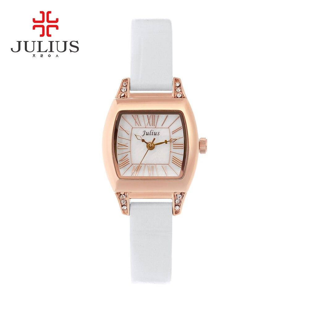 JULIUS JA-759 Montre Femme Armband Uhr Leder Luxus Uhr Antike Platz Casual Leder Kleid Handgelenk Whatch frauen Relogio