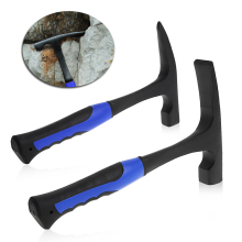 Rock Pick With Flat Tip Shock Reduction Grip Geological Stratigraphic Hammer