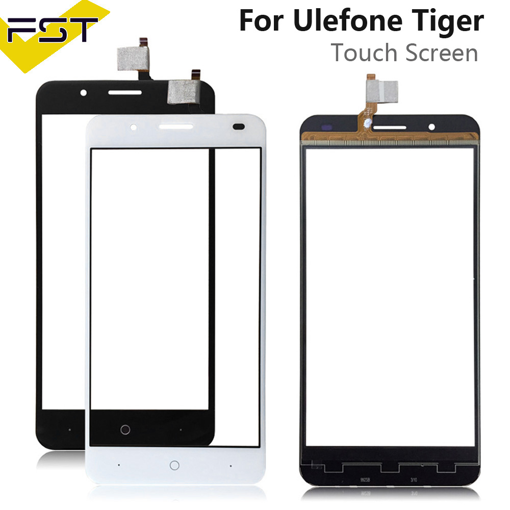 5.5'' Black/White Tested Touch Screen Digitizer Panel For Ulefone Tiger Touch Panel Front Glass Lens Sensor Without LCD