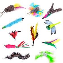 20 opcjonalnych zabawek dla kotów, latające ryby, ptactwo kota zastępcza głowa, ważka, wędka, interaktywna fajna zabawka dla kota