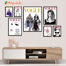 Vogue Girl Quotes Wall Art Canvas Painting Nordic Poster Salon Pictures For Living Room Home Decoration Unframed