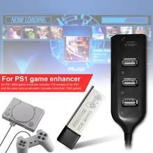 Portable 7000 Games Enhancer Pack con Hub per Playstation One 2 3 4 Pro 5 Console True Blue PS1 Mini accessori per giochi