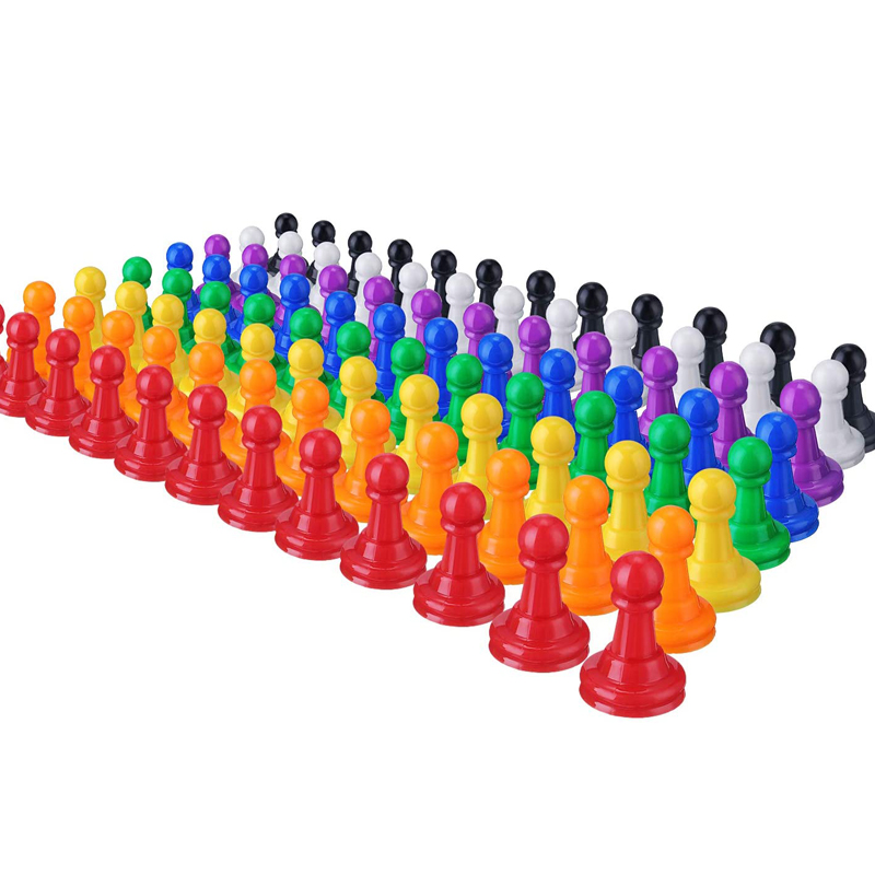 96 Pieces 1 Inch Multicolor Plastic Pawn Chess Pieces For Board Games, Component, Tabletop Markers, Arts And Crafts