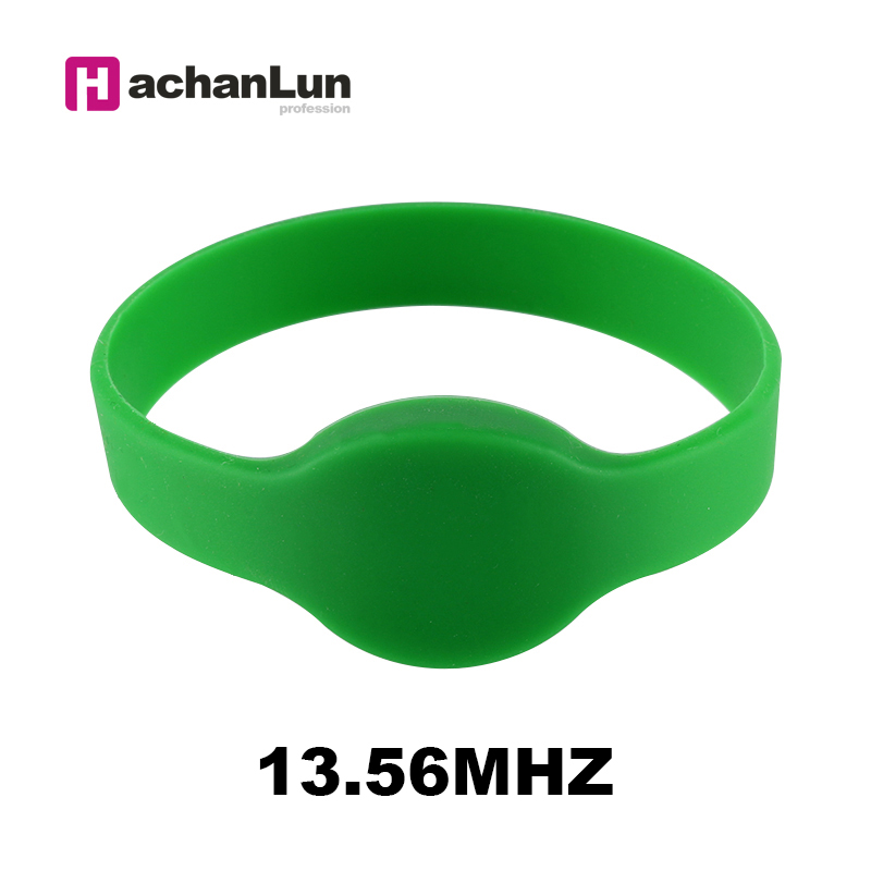 10PCS 13.56MHZ RFIDMF 1K S50 F08 Wristband Access Control Card Label ISO14443A Silicone NFC Multi-color Wristband Bracelet