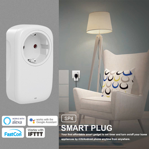 Image 1 - Broadlink SP3S EU Neueste SP4L Wifi buchse Timer Stecker Outlet Smart Home Automation APP Steuer arbeit mit Alexa Google Hause siri