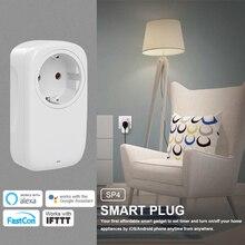 Broadlink sp3s ue mais novo sp4l wifi soquete temporizador tomada de automação residencial inteligente app controle trabalho com alexa google casa siri