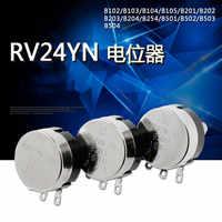 2 uds. De potenciómetro de carbono giratorio de giro único, RV24YN20S B102 B202 B502 B103 B503 B104 B105 1K 5K 20K 10K 100K 1M RV24YN