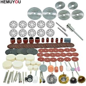 Image 4 - 100pcs/חרט שוחקים כלים אביזרי Dremel רוטרי כלי אבזר סט מתאים עבור Dremel תרגיל שחיקה ליטוש ראה להב