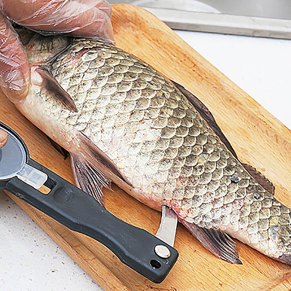 Fish Skin Brush Scraping Fishing Scale Grater Skinner Peeler Scaler Scraper Tool