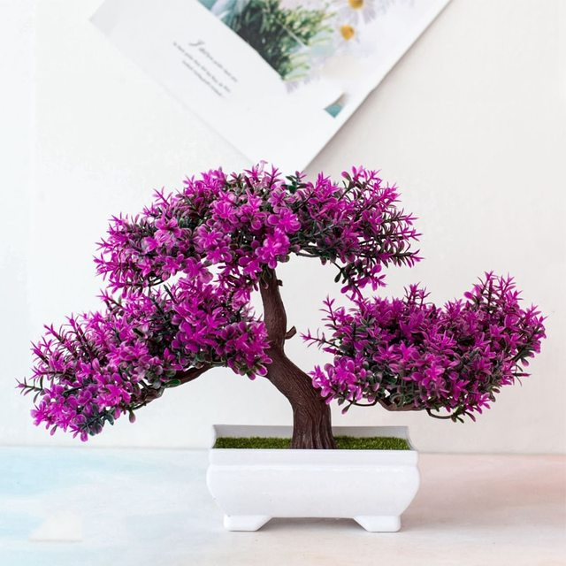 Artificial Plants Pine Bonsai Small Tree Pot Plants Fake Flowers Potted Ornaments For Home Decoration Hotel Garden Decor 6