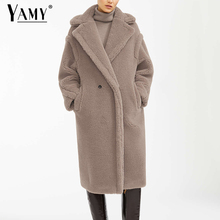 Плюшевая куртка пальто из искусственного меха длинное розовое меховое пальто Женская винтажная Меховая куртка зимнее пальто женское элегантное мохнатое меховое пальто теплое