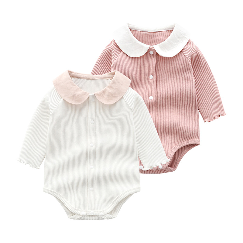 Infant Clothing Newborn Baby Clothes Spring Autumn Long Sleeved Cute Body Suit Baby Cotton Bag Fart Jumpsuit Sibling Outfits