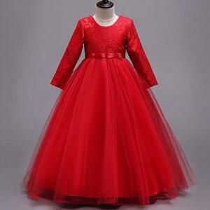 Image 5 - 長袖フラワーガールのドレス初聖体ドレス女塩漬け糸誕生日ドレスパーティーイブニングドレス