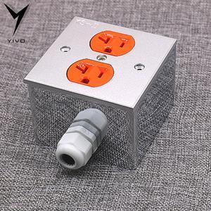 Image 5 - 2 * US KS II # złącze zasilania Hi end DIY HIFI miedzi pozłacane 20amp 20A 125V aluminium pudełko na talerze gniazdo zasilania gniazdko elektryczne