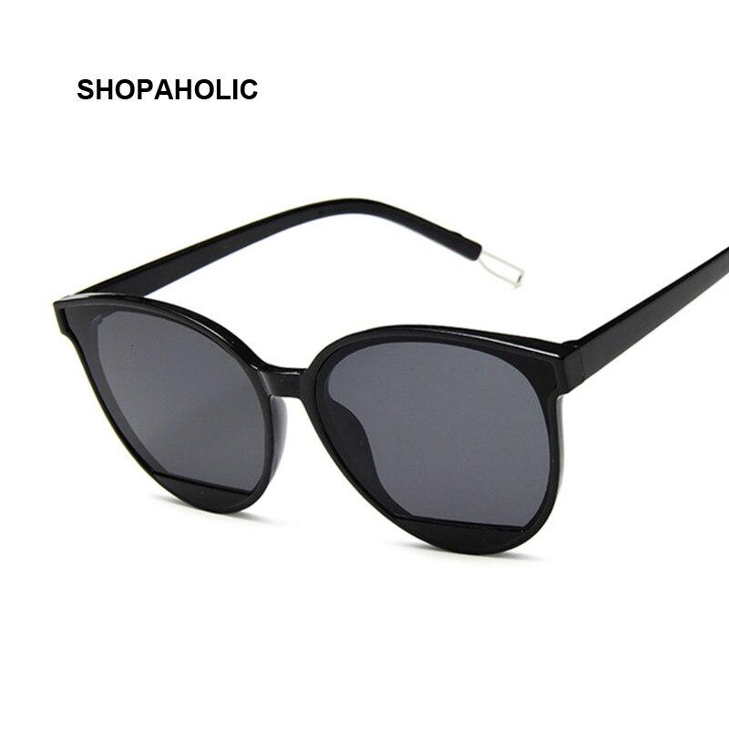 New Classic Oval Women Sunglasses Female Vintage Luxury Plastic Brand Designer Cat Eye Sun Glasses UV400 Fashion