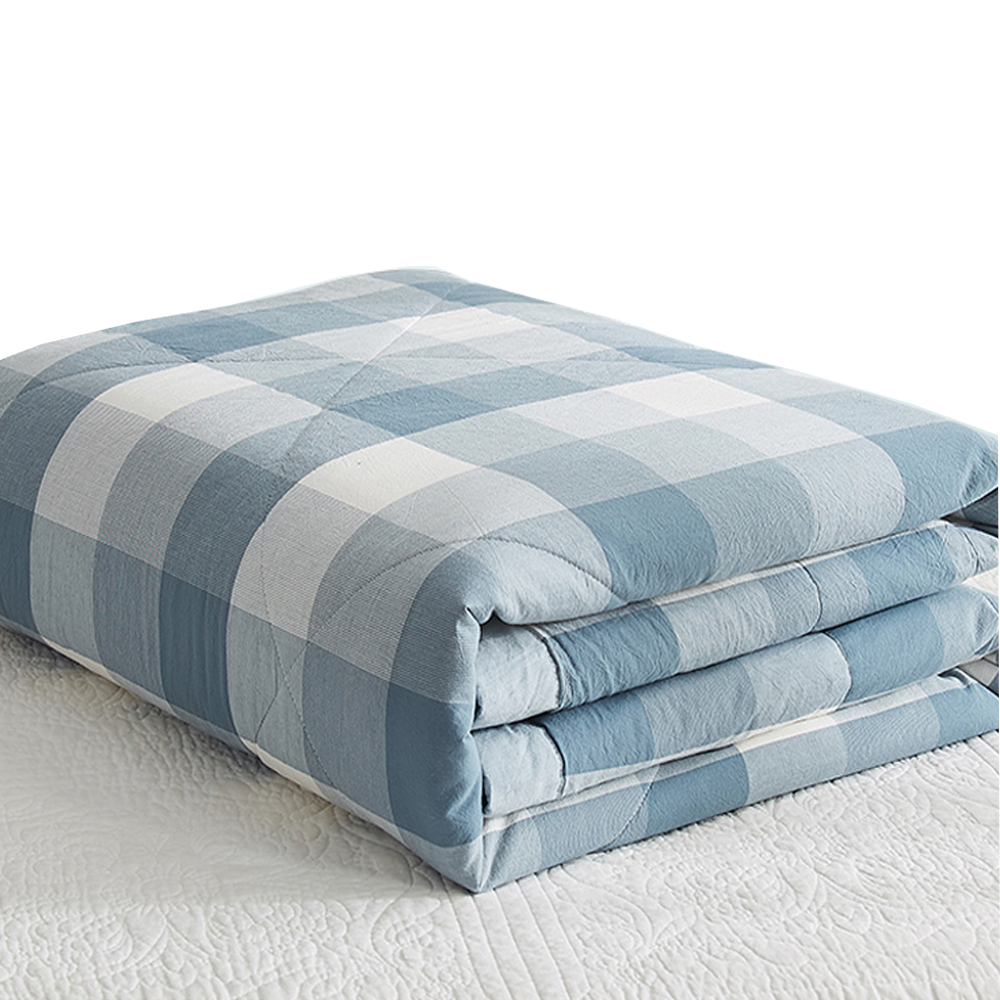 Mechanical Wash Summer Quilts Japan Style 100% Cotton Filling Soft Cotton Duvet Cover Bedspread Blankets Thin Comforters