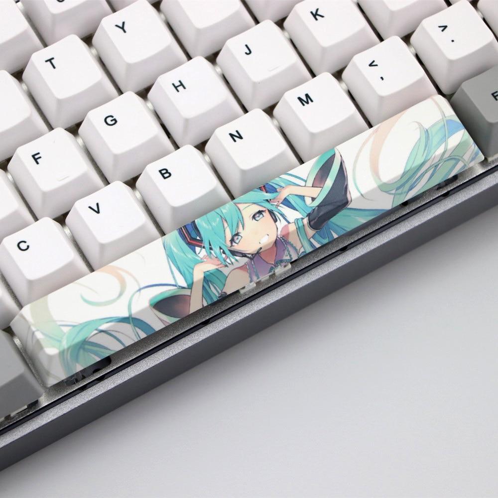 Hatsune Miku Custom Spacebar Keycap PBT 9.9U Cherry Profile Anime
