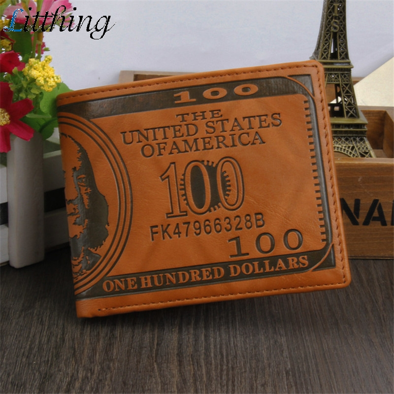 Men Fashion Retro Wallet 3D Dollar Print Credit Wallet Male Long Purse For Coins Multi Pocket  Portfel 2019 New Carteira