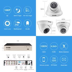 Image 2 - ZOSI CCTV מערכת 1080P מלא HD 8CH H.265 + DVR 6pcs 2.0MP כיפת אבטחת מצלמה 24pcs IR LED חיצוני בית מעקב מערכת