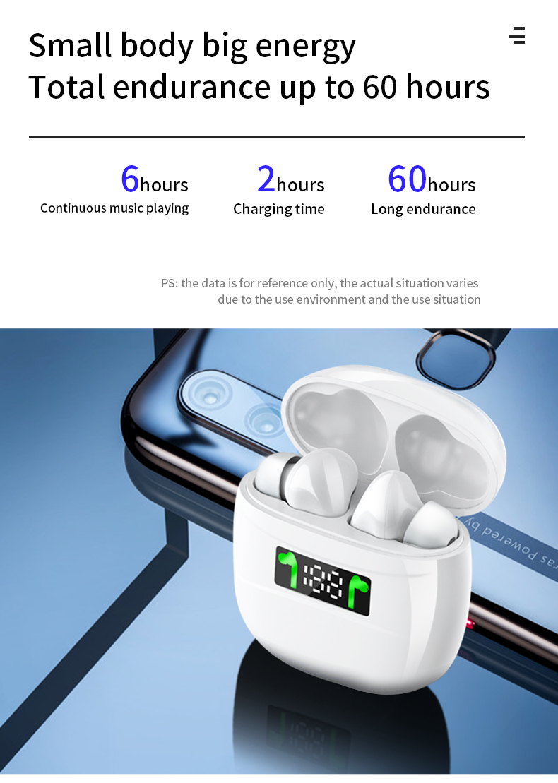 Samload Touch Bluetooth 5.2 Headphones HiFi Stereo Wireless Earphones Sports Noise reduction Headsets 4H Playtimes For All Phone
