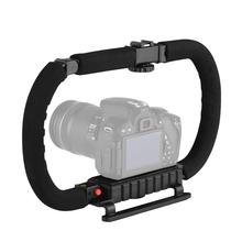 פעולה מייצב גריפ פלאש Bracket מחזיק ידית מקצועי וידאו אביזרי עבור DSLR DV מצלמה למצלמות טלפונים חכמים