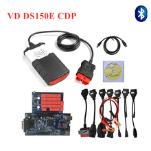 цена на 2019 New vci with bluetooth USB vd ds150e cdp pro 2016.r0 with keygen for delphis obd obd2 cars & trucks diagnostic tool