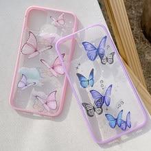 Telefon Fall Für iPhone 12 11 Pro Max X XR XS 6S 7 8 Plus 12 mini Luxus Glitter bling Sterne Schmetterling Candy Farbe Klar Weichen Fall