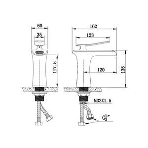 Image 2 - Смеситель для ванной комнаты из античной бронзы с водопадом, смеситель для ванной комнаты с черной кистью для горячей и холодной воды, никелевый смеситель для воды ELF100