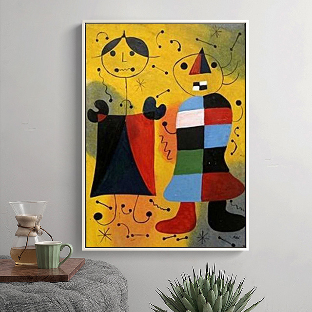 Joan Miro Abstract Paintings Printed on Canvas 5