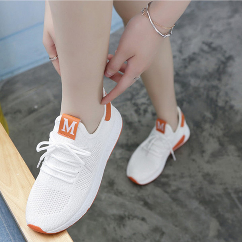 Lightweight Comfortable Lace-up Women's Shoes New Fashion Mesh Women's Vulcanize Shoes Casual Sneakers Zapatos Mujer VT657 (4)
