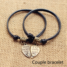 Lovers Bracelet A Pair of Students Best Friend Hand Rope Simple Men and Women Accessories Show Loving Jewelry Commemorative