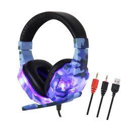 Камуфляж PS4 гарнитура бас Игровые наушники шлем с микрофоном для ПК мобильный телефон Новый Xbox One планшет