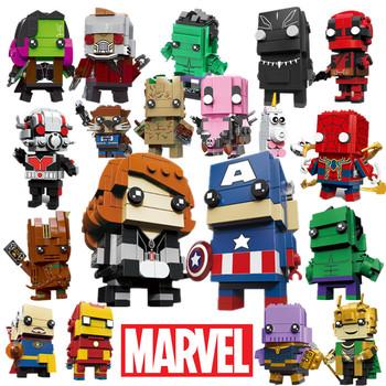Marvel Avengers lalki czarna wdowa Spiderman Iron Man Loki superbohater budynek klocek głowa Groot Hulk Thanos Deadpool zabawka tanie i dobre opinie Disney 4-6y 7-12y 12 + y CN (pochodzenie) Unisex Mały klocek do budowania (kompatybilny z Lego) heroes bricks series BLOCKS