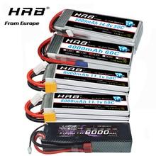 HRB lipo battery 2S 3S 4S 6S 6000mah 3300mah 4000mah 5000mah battery With EC5 XT60 T-Deans connector for RC Car Truck Drone Boat