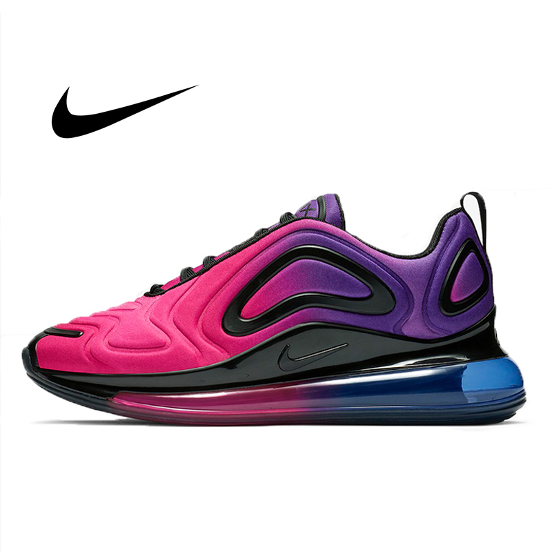 Authentic Nike Air Max 720 Running Shoes For Women Gradient Color Classic Lightweight  Fitness Sneakers Good Quality AR9293-500