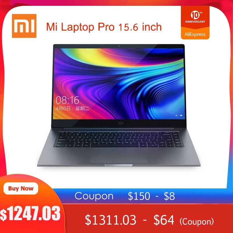 Upgraded Xiaomi Mi Laptop Pro 15.6 inch i7 - 10510U MX250 Windows 10 Home 16GB RAM 1TB SSD Notebook Fingerprint Unlock
