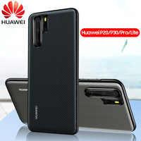 Coque arrière en cuir Huawei P30 Pro coque d'origine Huawei P20 Lite P30 Lite Funda Carcasa P20 Pro coque de protection complète pour téléphone Capa