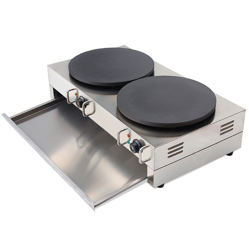 Commercial Gas Crepe Maker Double Burner 220v 110v Electric Pancake Machine Gas Crepe Making Machine NP 586 in Crepe Makers from Home Appliances