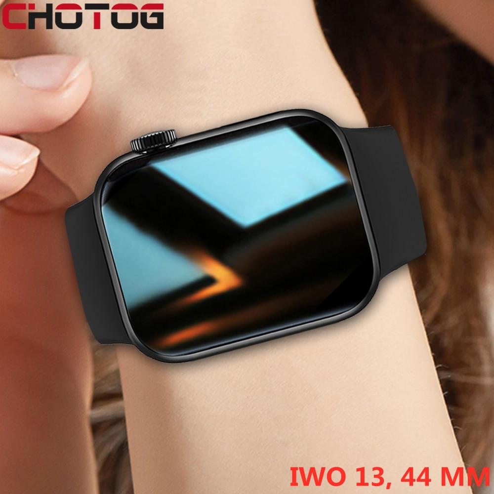 CHOTOG оригинальные IWO умные часы для мужчин с раздельным экраном, Bluetooth, звонки, умные часы для женщин, монитор сердечного ритма, 44 мм, спортивны...
