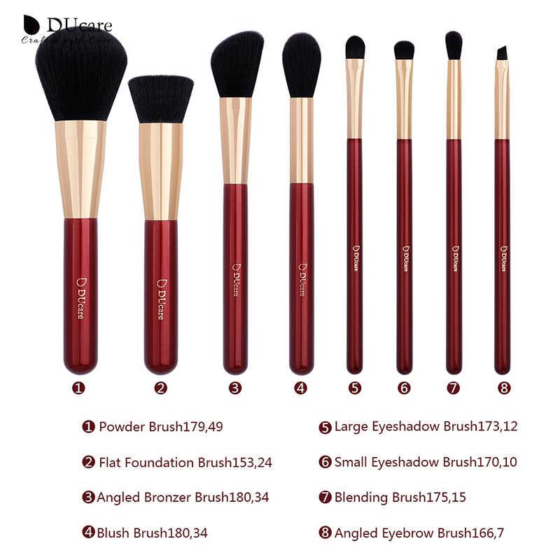 DUcare 8 STUKS Make-Up Kwasten Set met Tas Oogschaduw Foundation Poeder Contour Make Up Kwast Cosmetische Beauty Tool Kit