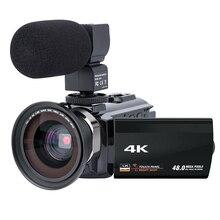 лучшая цена Video Camera Camcorder 4K Ultra Hd Digital Wifi Camera 48.0Mp(Interpolation) 3.0 Inch Press Screen 16X Digital Zoom Recorder W
