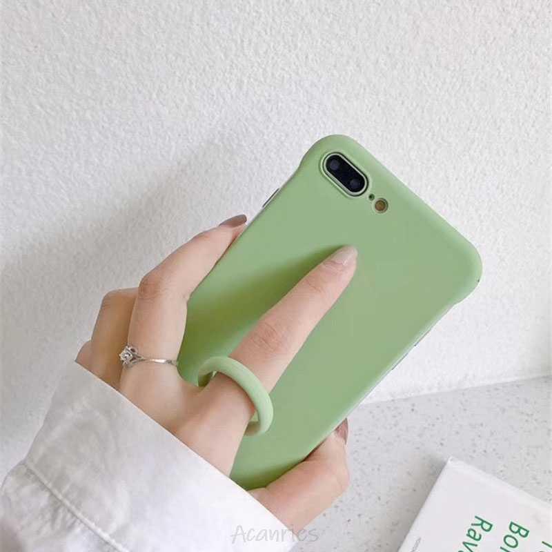 Vloeibare Siliconen Vinger Ring Bandjes Hand Lanyard Key Ring Hand Touw Camera Usb Toetsen Accessoires Voor Iphone Samsung Galaxy Case