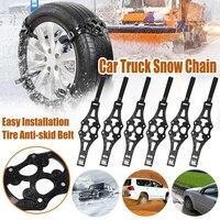 6PCS Winter Car Wheel Snow Tyre Tire Beef Tendon TPU Chain Anti skid Strap Belt