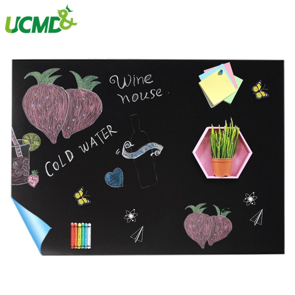 60X40CM Self-adhesive Blackboard Sticker Office School Kids Graffiti Painting Writing ChalkBoard Baby Room Decor Wall Sticker