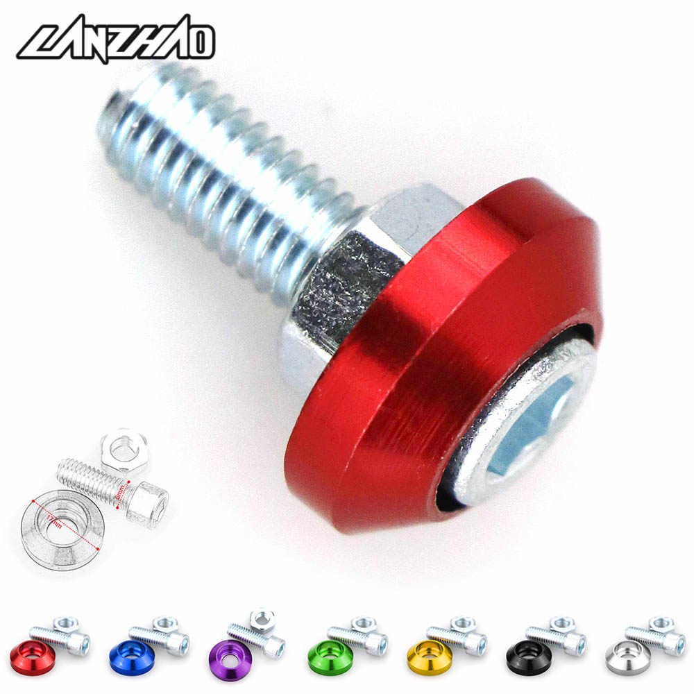 7 Colors Car Motorcycle License Plate Frame Mounting Screws Bolts Nuts Fasteners 6mm for Suzuki Triumph Ducati Benelli Honda KTM
